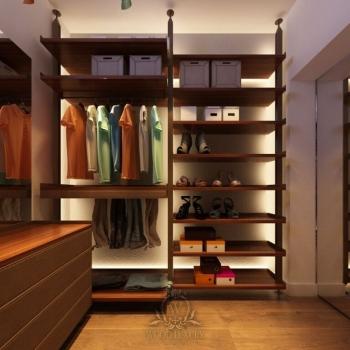 Класика гардеробної кімнати
