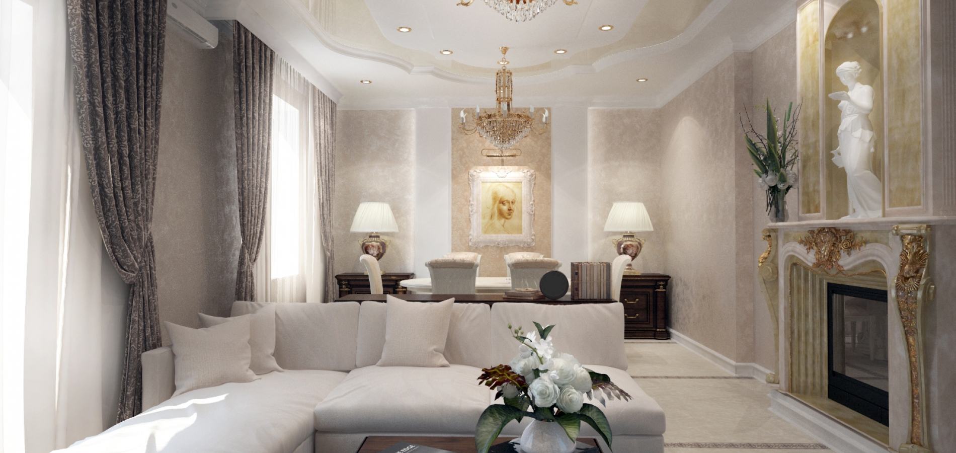 Классическая мебель в доме