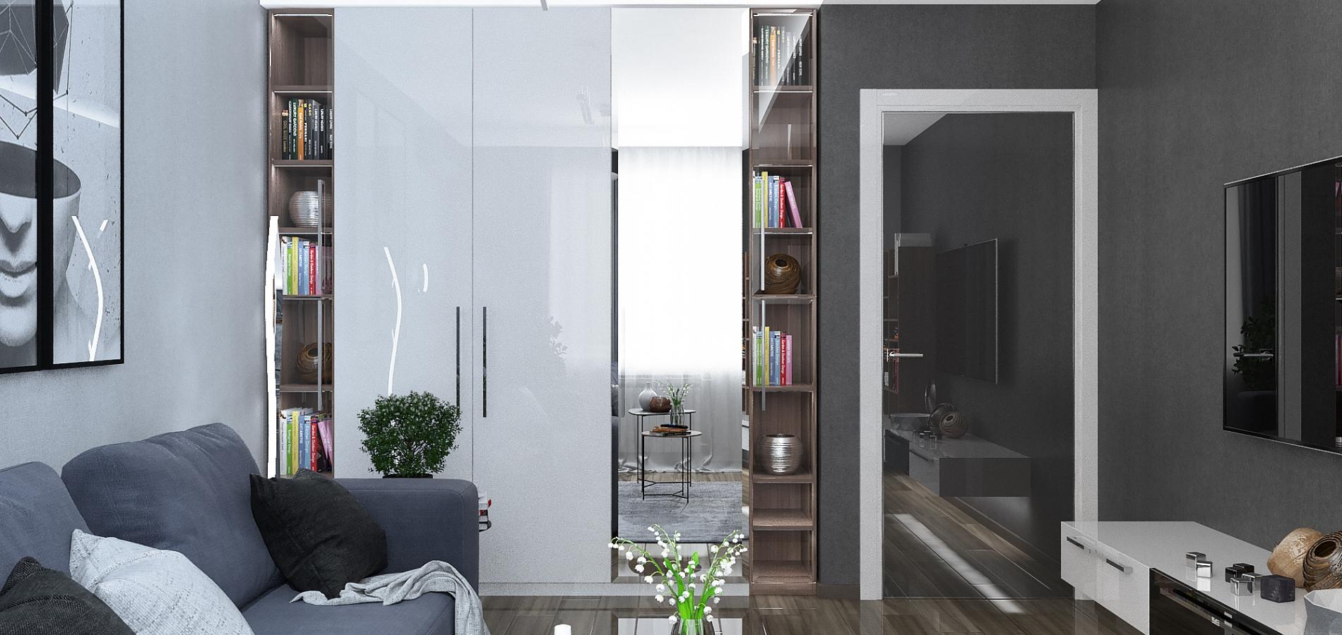 Оформление квартиры в темных тонах