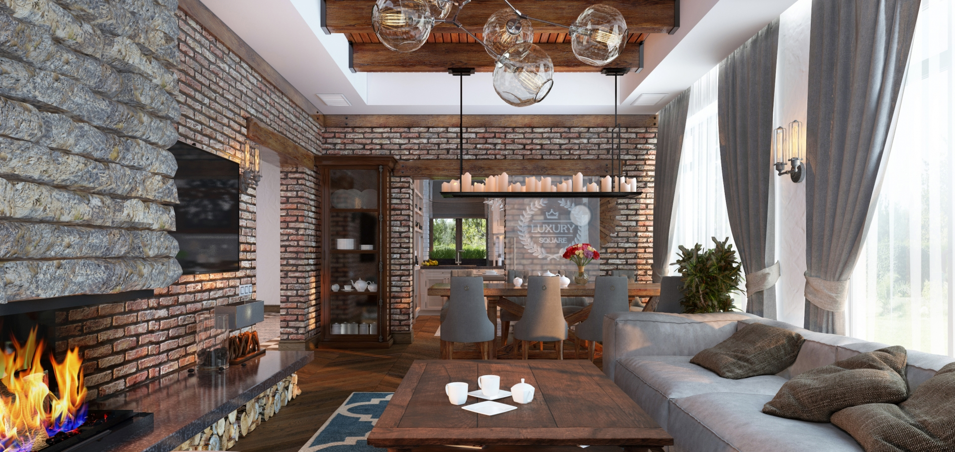 Оформление квартиры Luxury Square