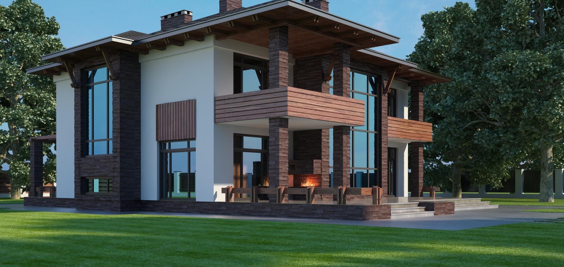 Будинок в стилі мінімалізм