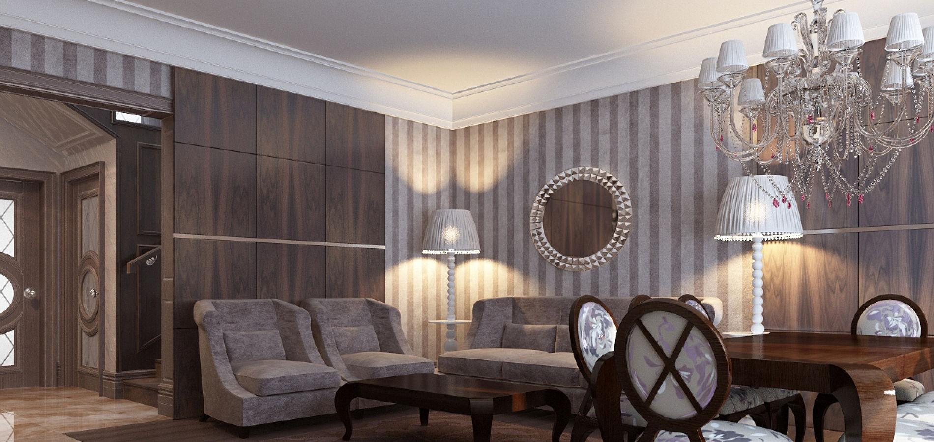 Вітальня в класичному стилі GK_109