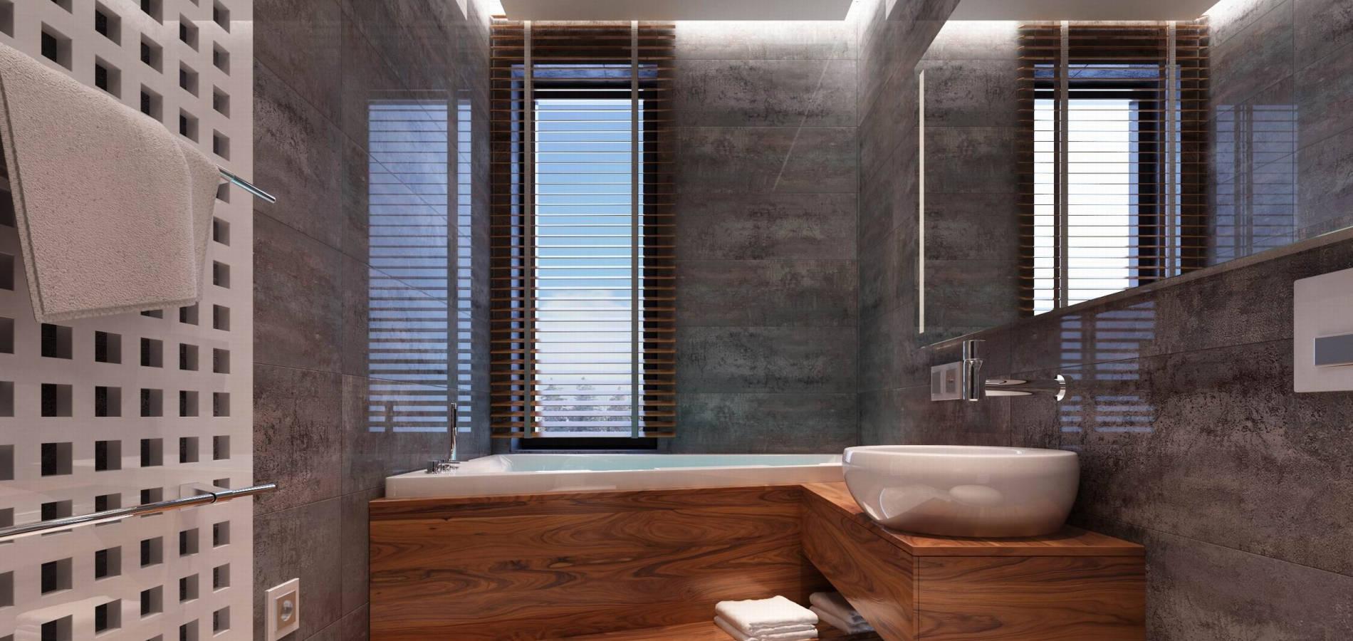 Ванна кімната фасадами з дерева WH_404