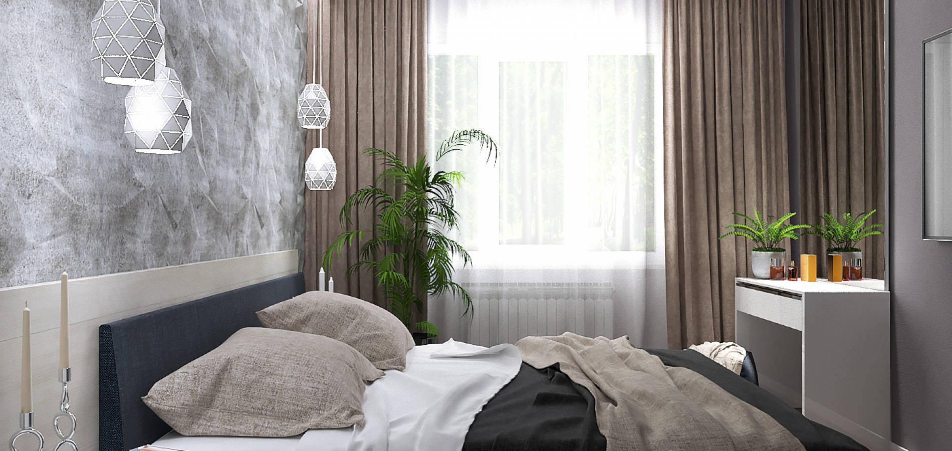 Сучасна спальня зі шпону в стилі мінімалізм SM_308