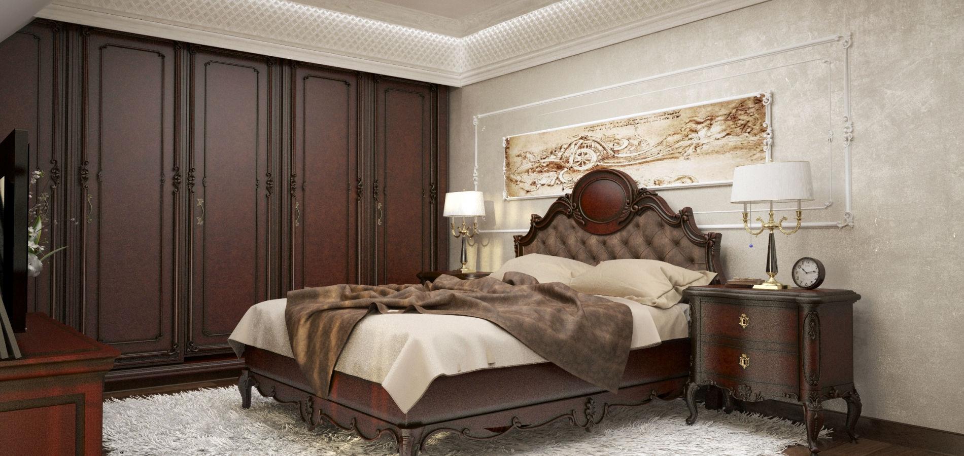 Спальня класична в темному кольорі SK_115