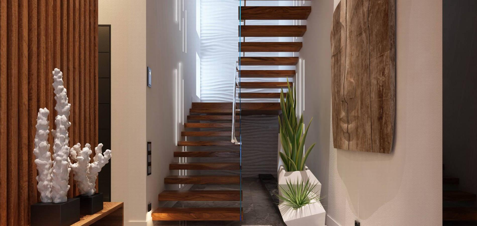 Сходи з дерев'яними сходинками SH_304