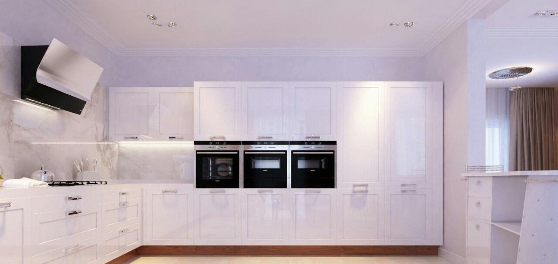 Кухня з білими фасадами MD_211