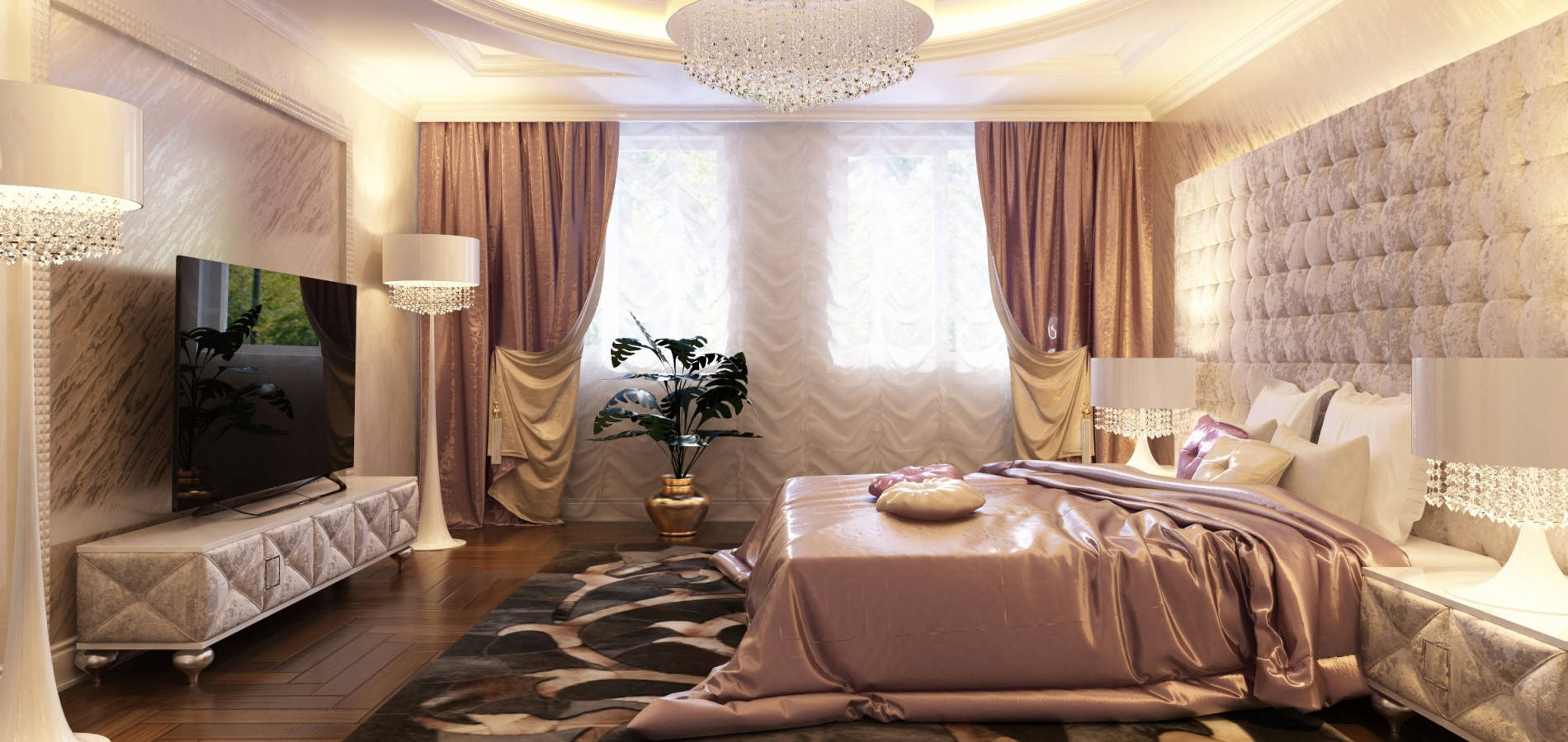 Спальня з мякими фасадами меблів SK_106