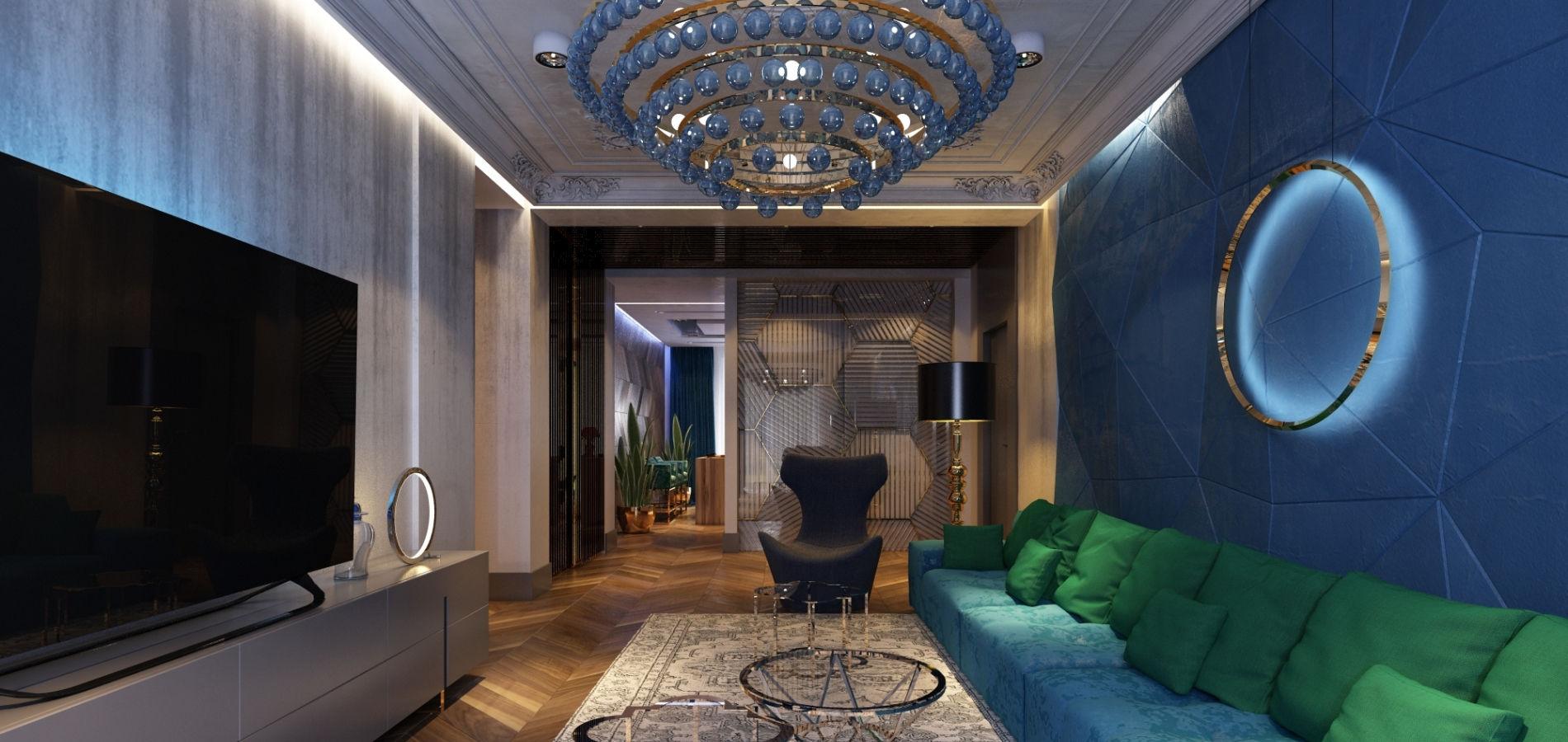 Затишна вітальня в сучасному стилі GMD_219