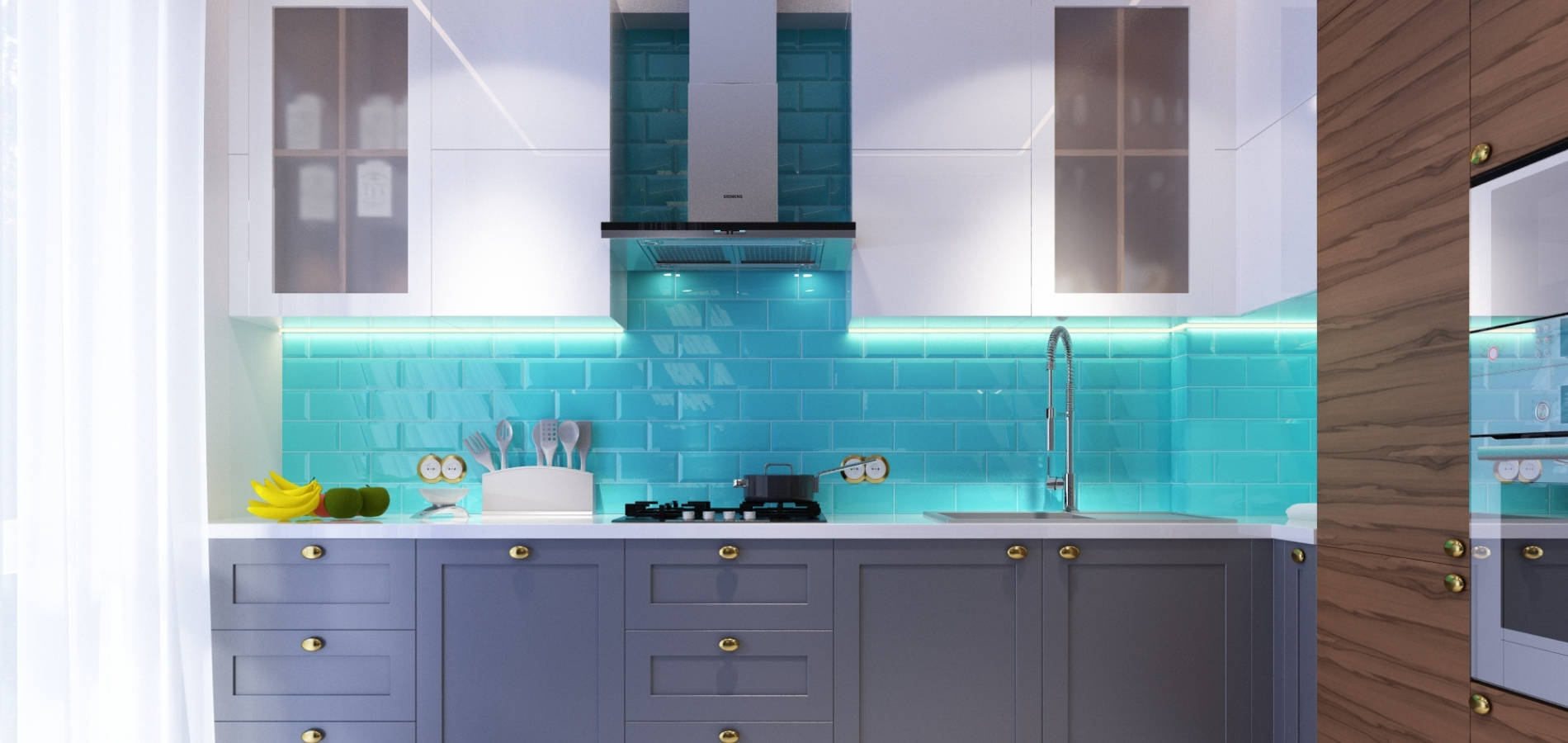Кухня з фарбованими фасадами MD_206