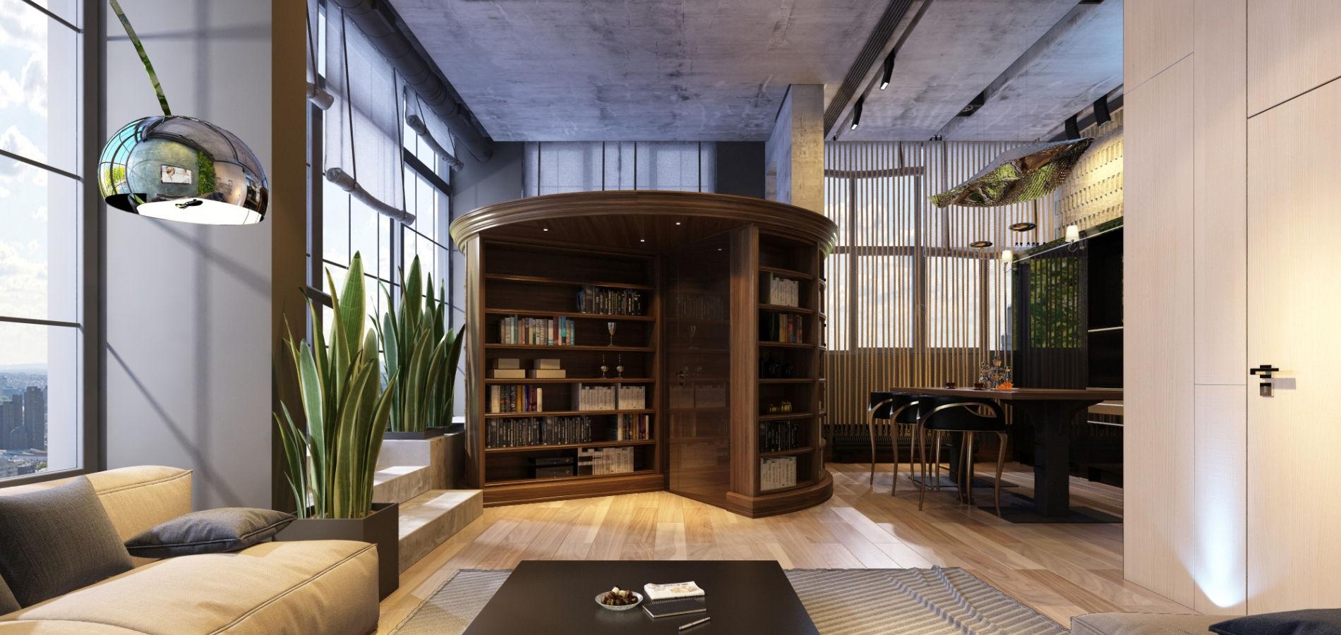 Зручна вітальня на другому поверсі GMD_218