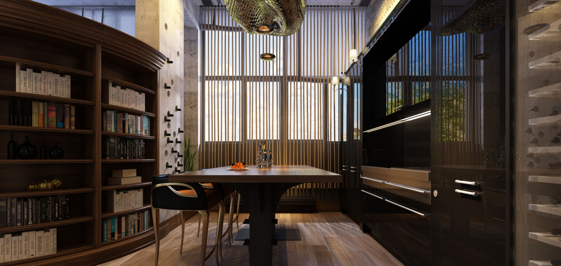 Затишна кухня на другому поверсі H_412