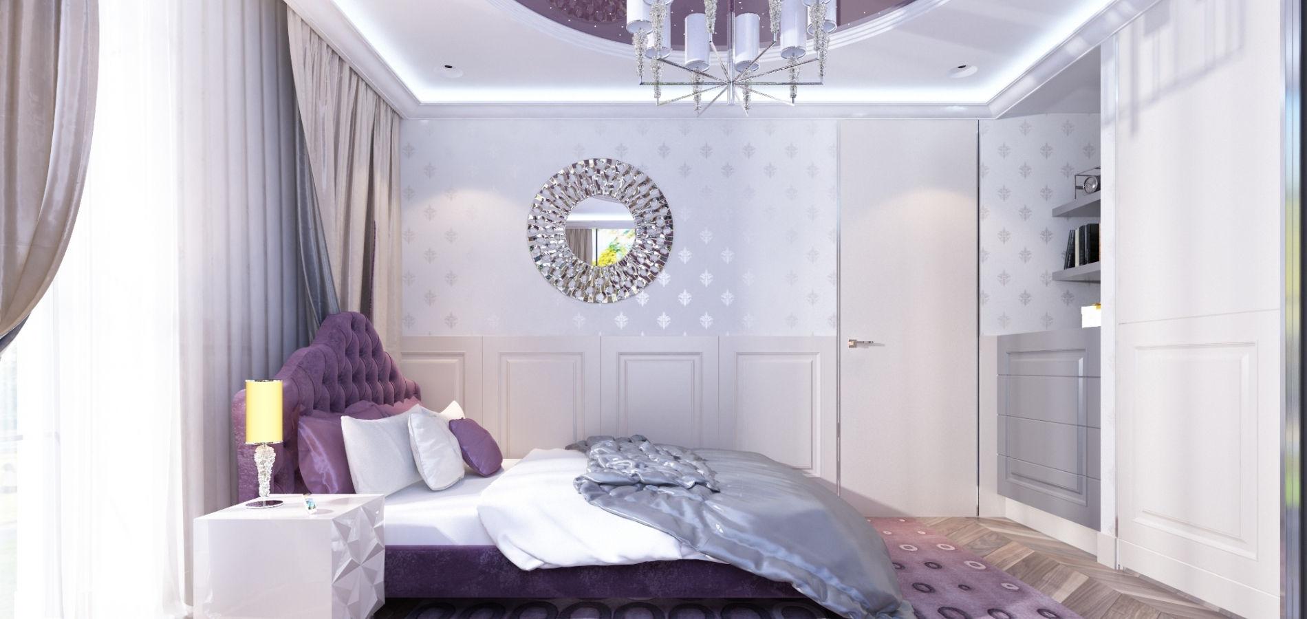 Зручна спальня в рожевих тонах SK_121