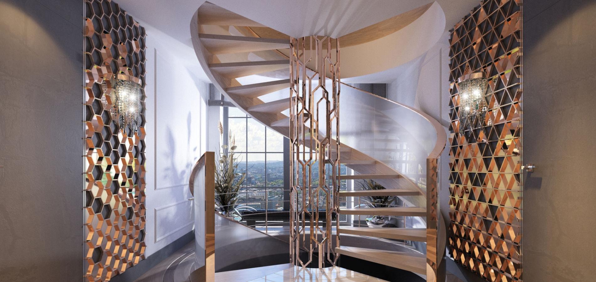 Гвинтові сходи в квартирі SH_307
