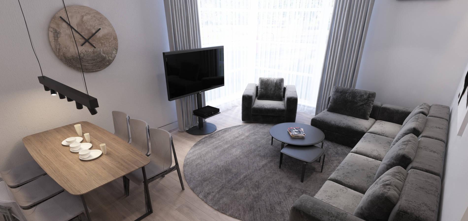 Вітальня в квартирі Львів GH_402