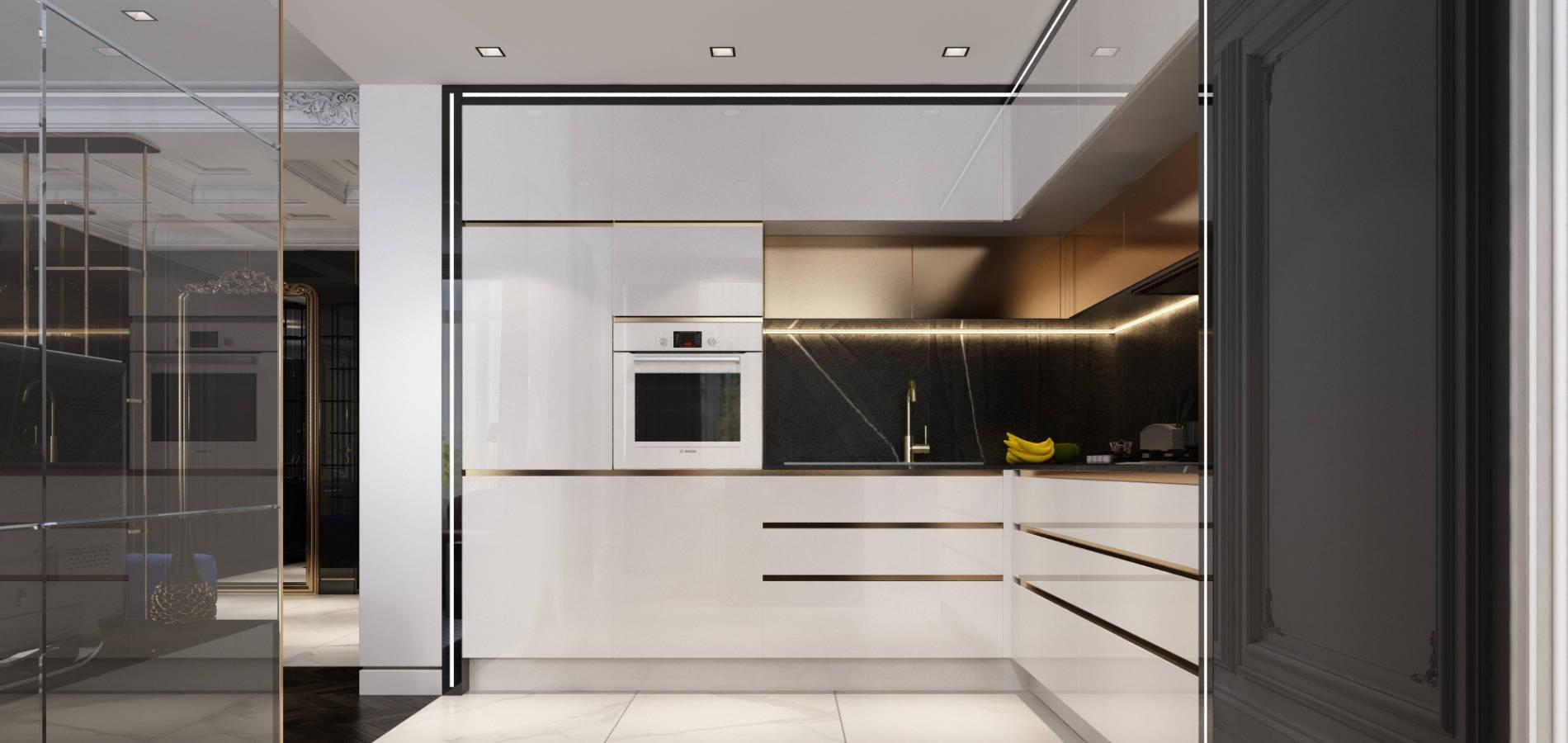 кухня в квартирі в стилі мінімалізм H_401