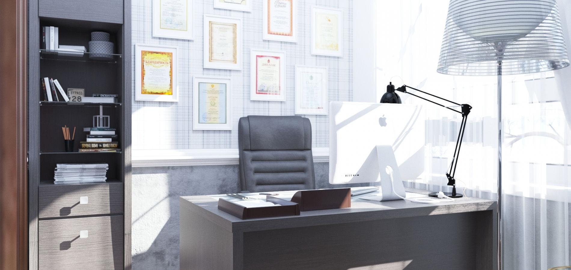 Кабінет сірий OMD_210