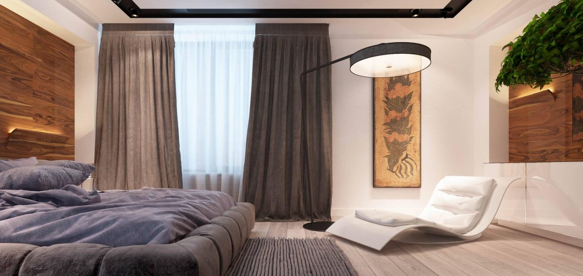Спальня з шпонованими панелями SM_307