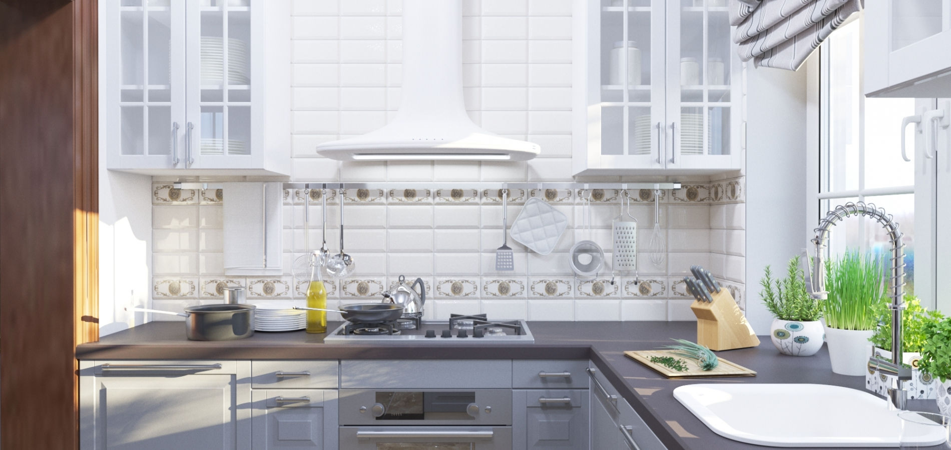 Кухня з антацитовими фасадами MD_213