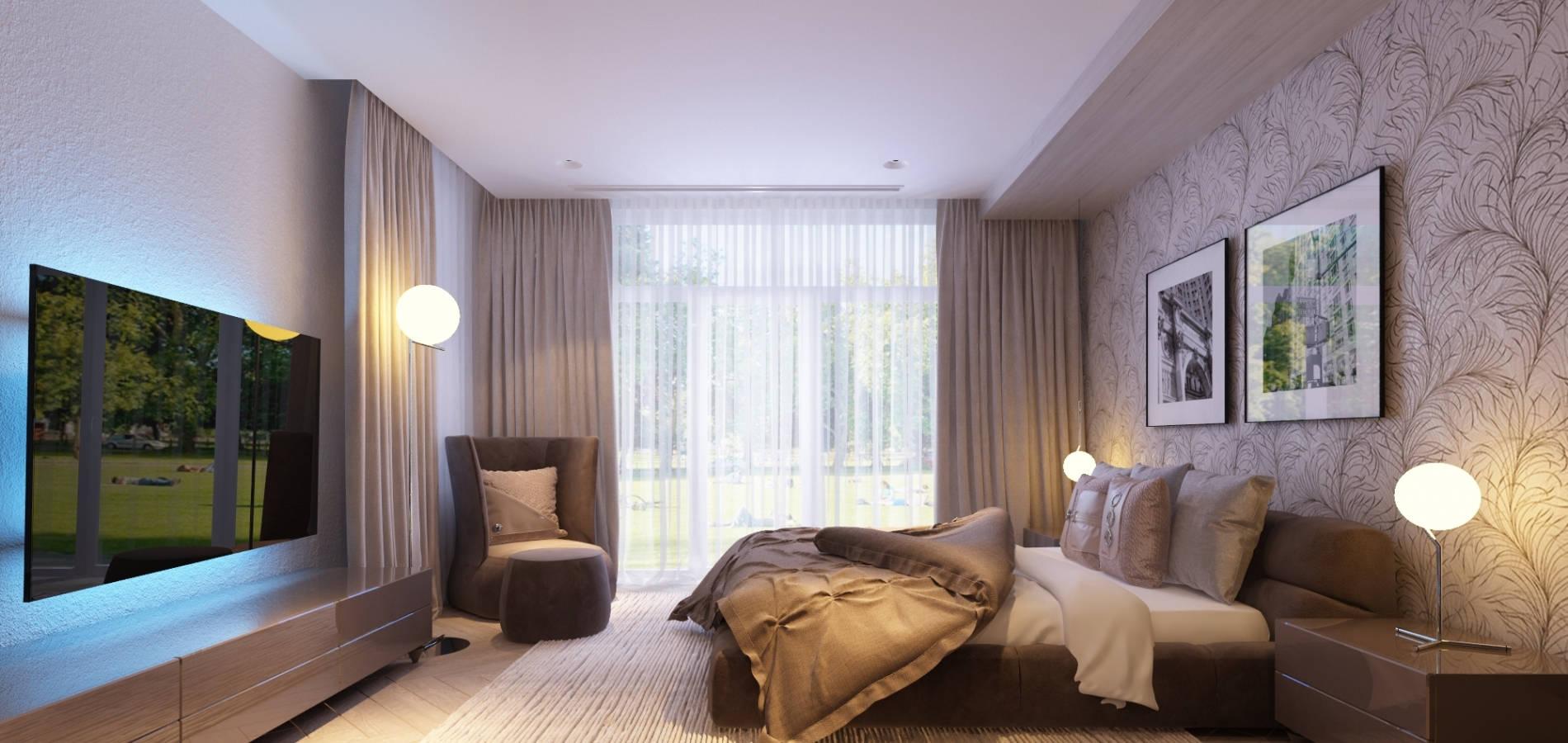 Спальня з мякими підголовниками SMD_209