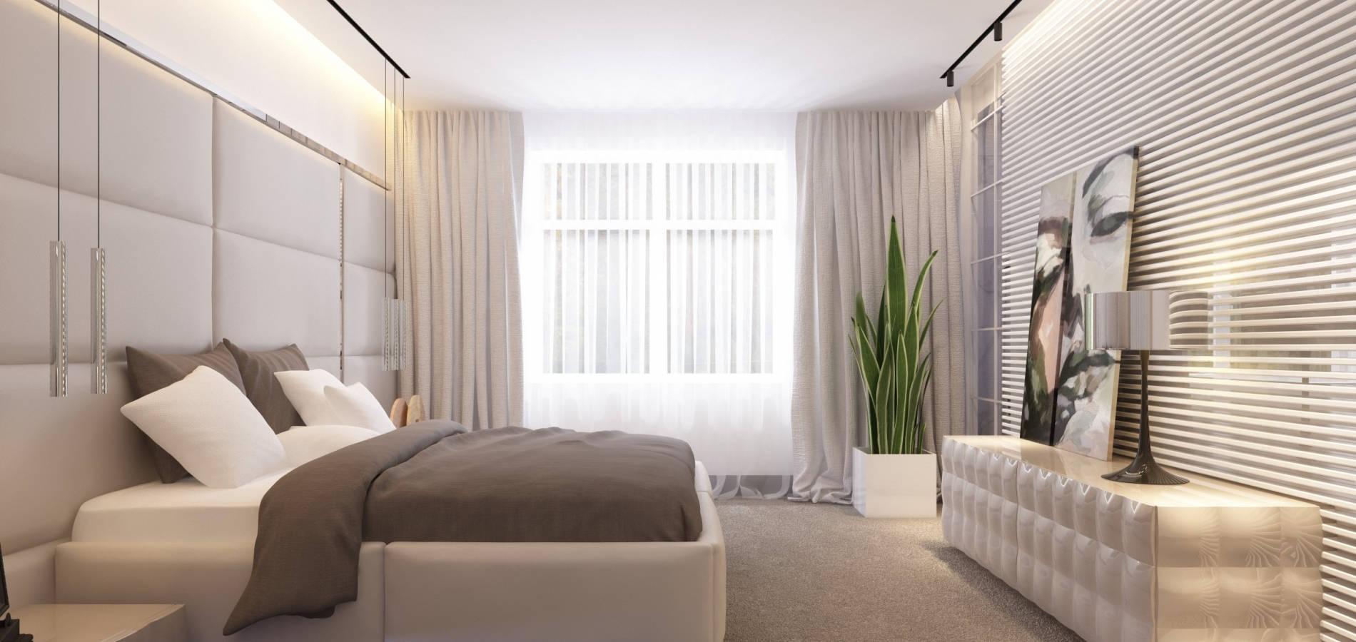 Спальня з мякими меблями SH_402