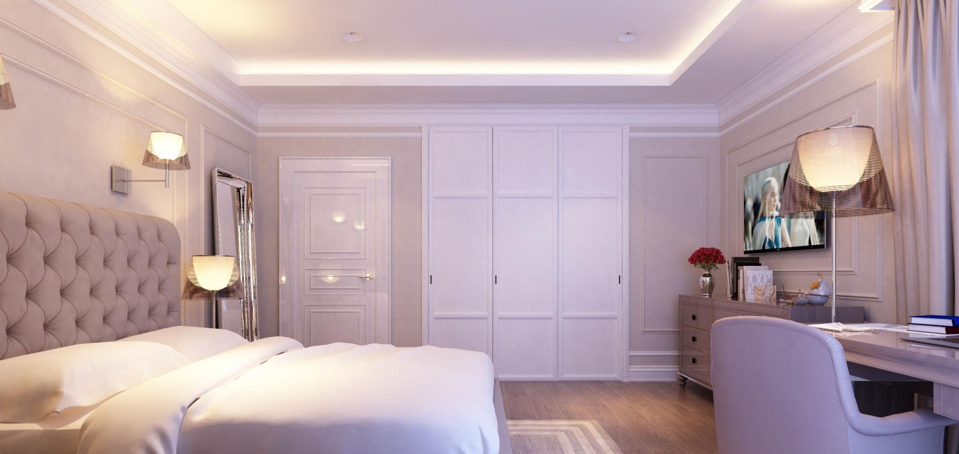 Світла спальня в класичному стилі SK_118