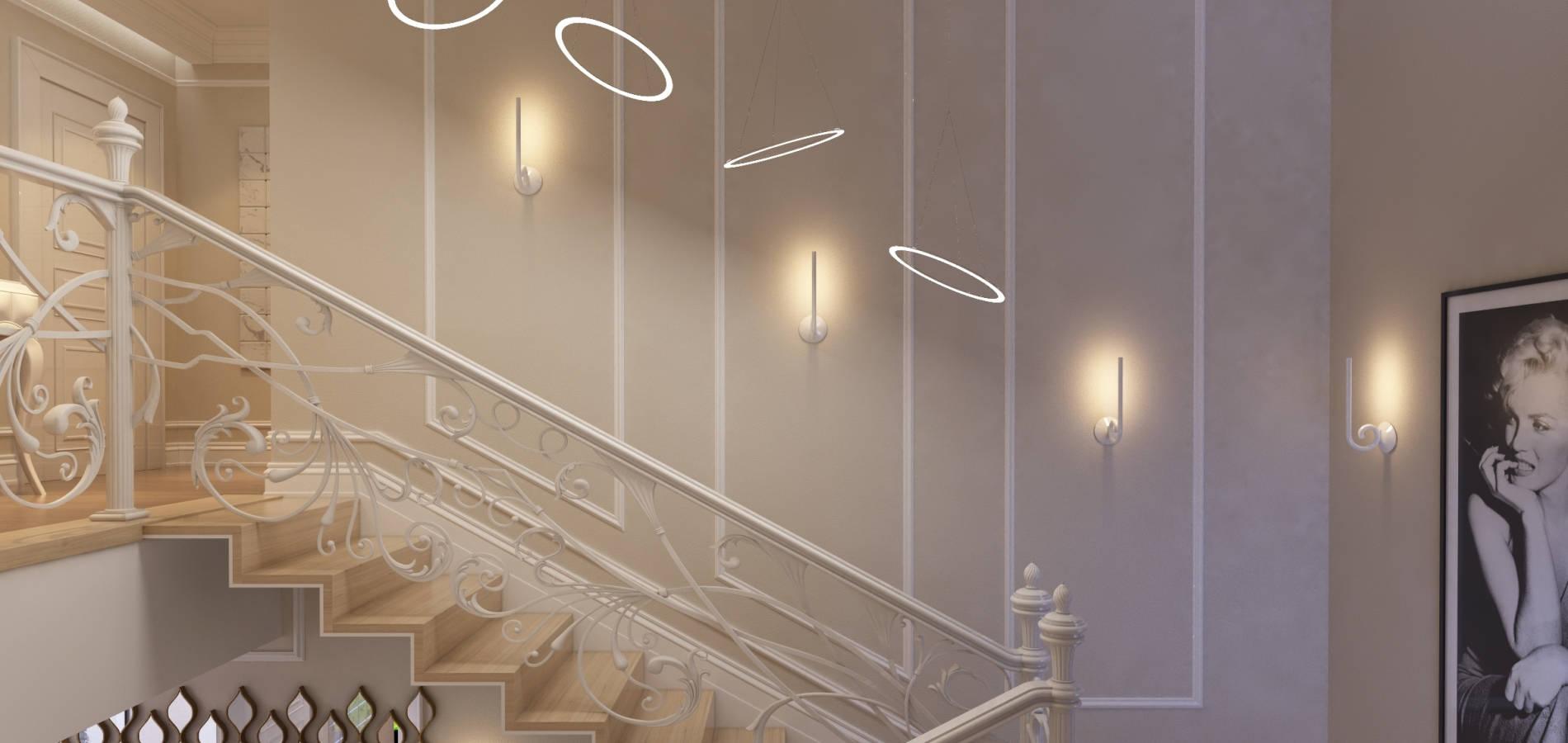 Білі класичні сходи SK_103