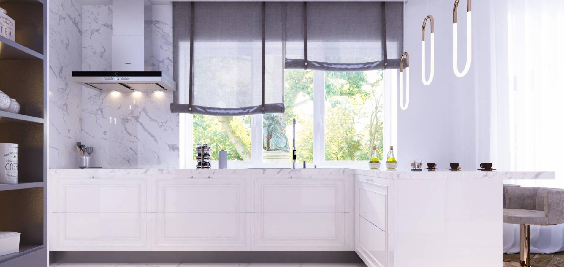 Кухня з білими та сірими фасадами MD_210