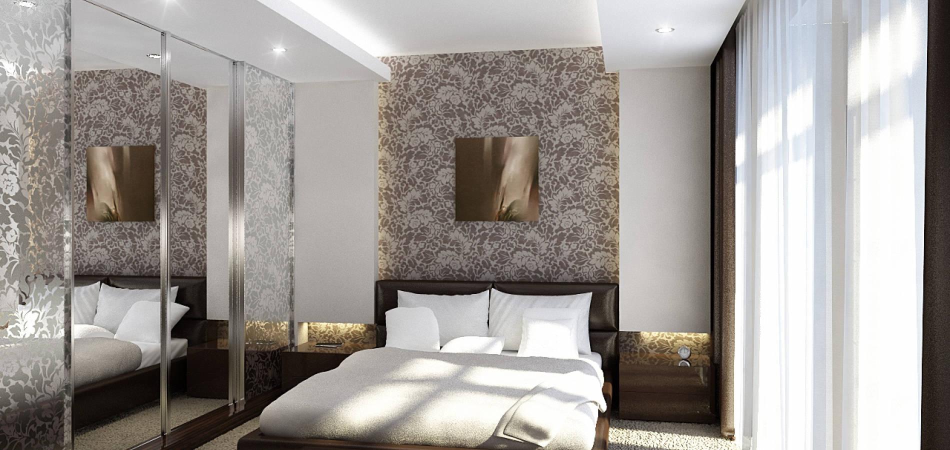 Спальня з шкіряним ліжком SMD_207