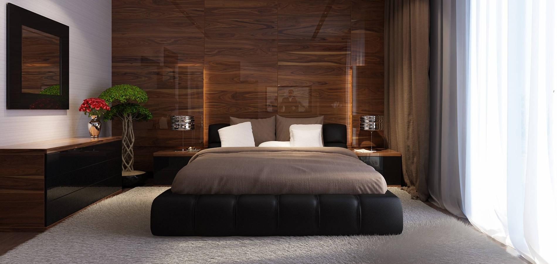 Спальня з шкіряним ліжком SM_302