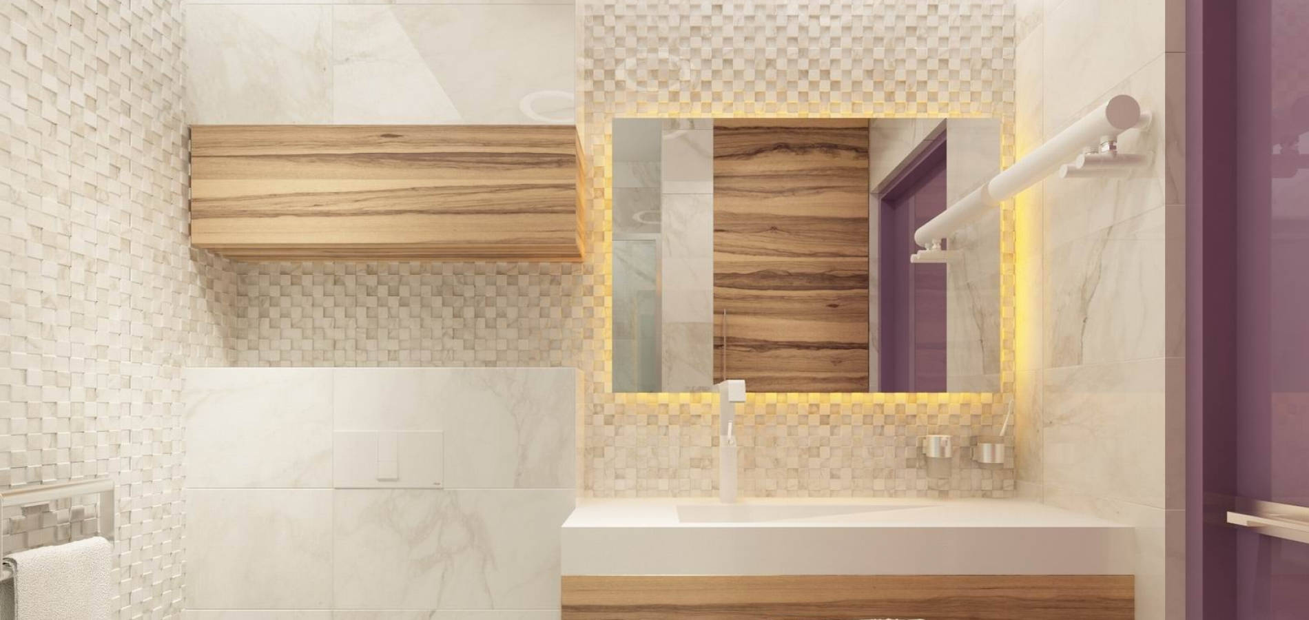 Ванна кімната в стилі хай тек WH_403