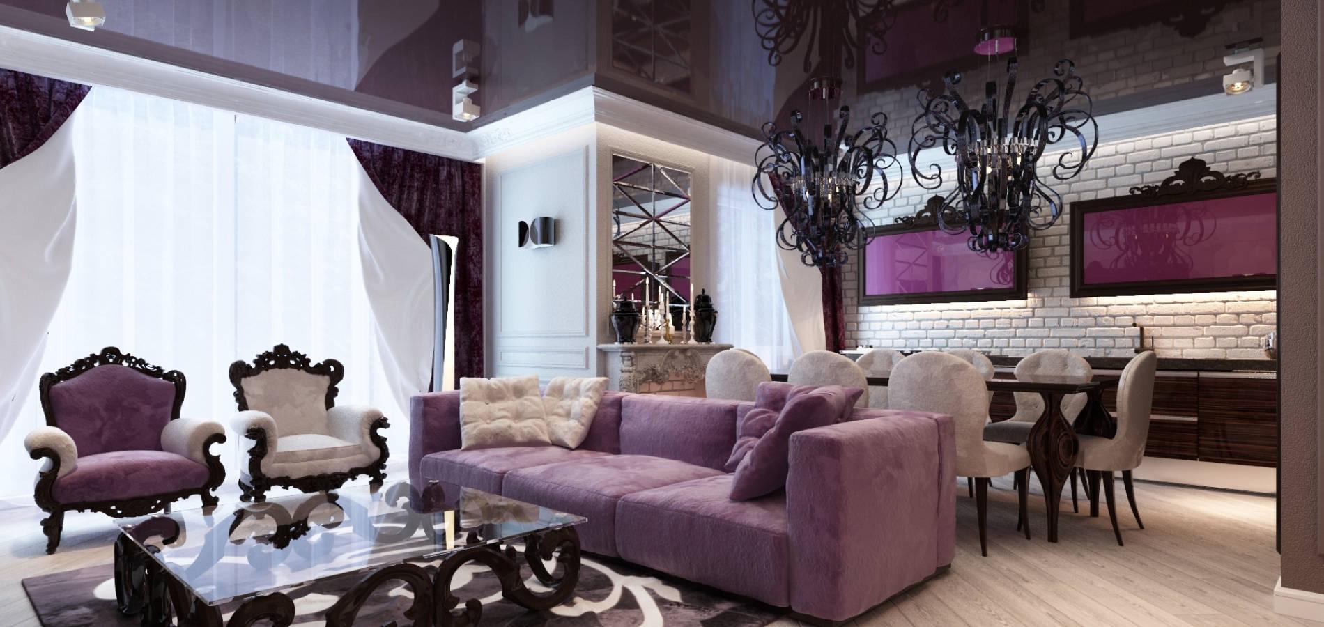 Вітальня в квартирі в стилі модерн GMD_201
