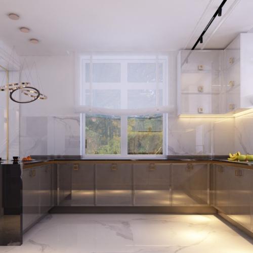 Кухня з глянцевими фасадами MD_218
