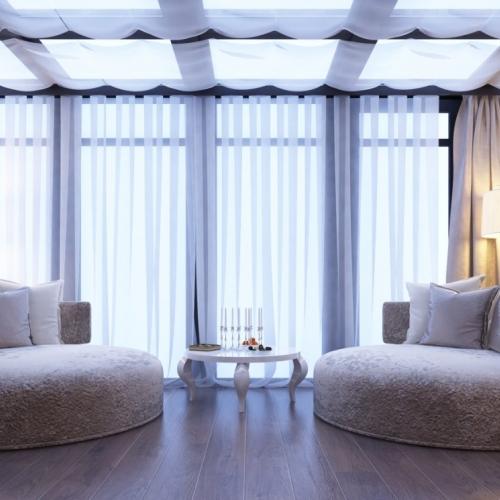 Гостиная с панорамными окнами GH_410