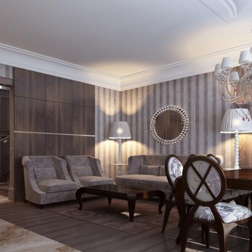 Гостиная в классическом стиле GK_109