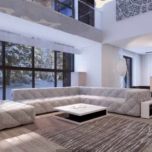 Просторная гостиная в стиле хай тек GH_407