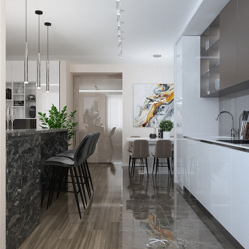 Кухня в стилі Хай тек H_402