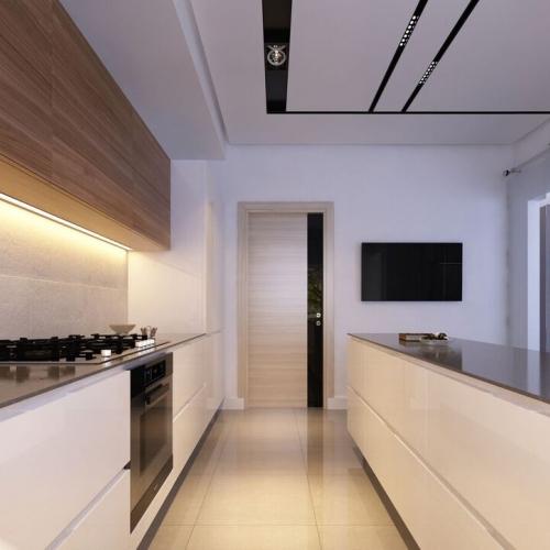Кухня  з акриловою стільницею H_406