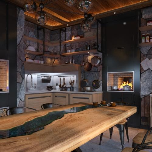 Авторська кухня з натурального дерева MD_203