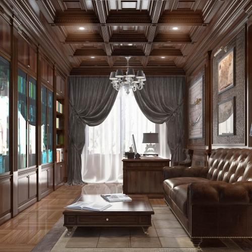 Кабинет с классической мебелью OK_104