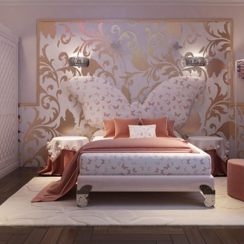 Спальня для дівчинки з метеликами SK_105