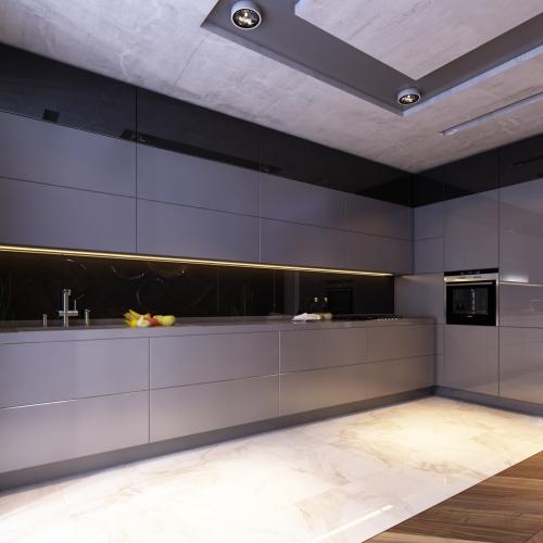 Сучасна кухня в темному кольорі Н_413