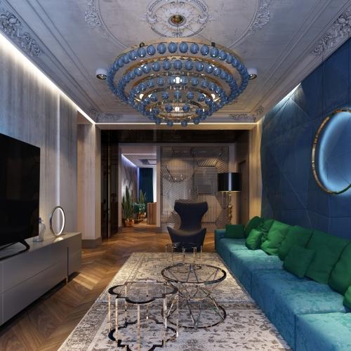 Уютная гостиная в современном стиле GMD_219