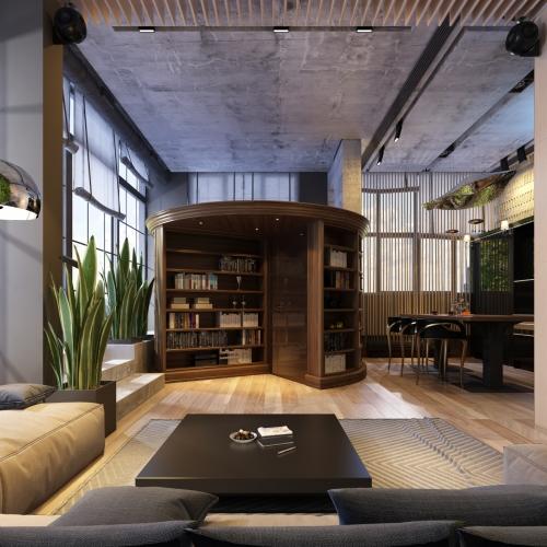 Удобная гостиная на втором этаже GMD_218