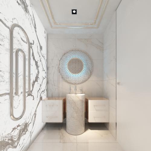 Затишна компактна ванна кімната WH_409