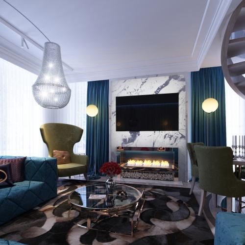 Роскошная просторная гостиная GMD_217