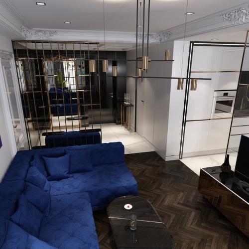 Великий синій диван BMD_207
