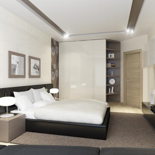 Спальня з шафою купе SH_403