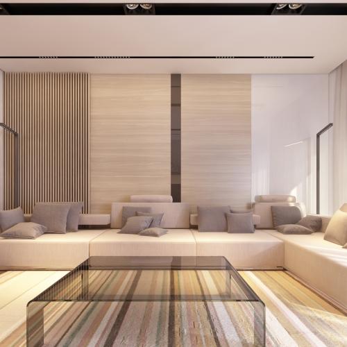 Гостиная-студия совместная с кухней GH_401