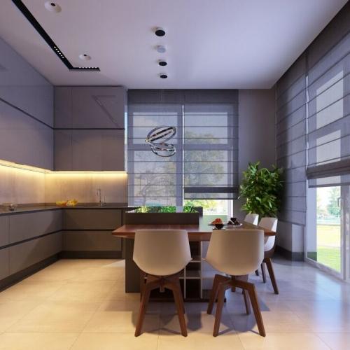 Кухня з панорамними вікнами MD_201